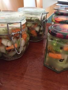 Komkommers fermenteren met melkzure bacteriën